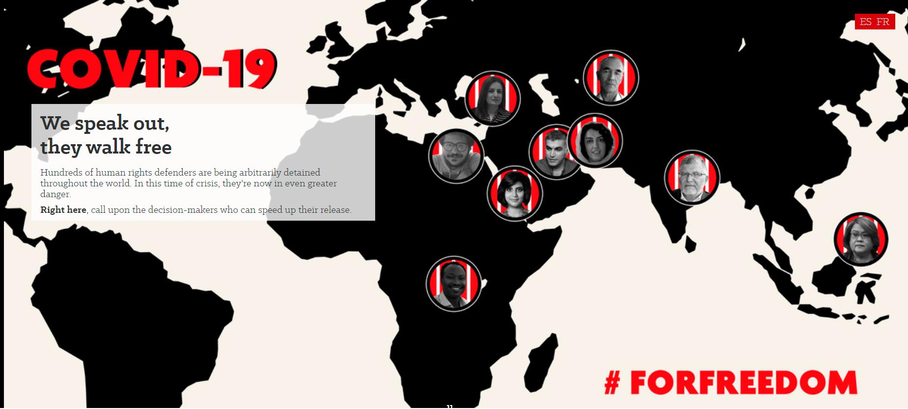 COVID-19: правозащитники должны быть немедленно освобождены из мест заключения